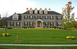 HOME luxuosa nova Fotografia de Stock Royalty Free