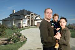 home lyx för familj Royaltyfri Bild