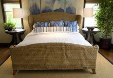 home lyx för sovrum Arkivfoto
