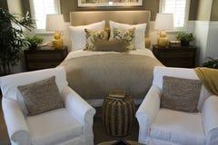home lyx för sovrum Royaltyfri Bild