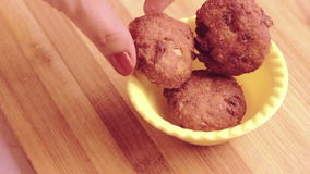 Home made aaloo tikki or cutlet stock video footage