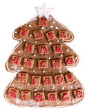 Home made Advent calendar. Home made gingerbread Advent calendar Stock Photos