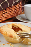 home made apple pie on a plate Stock Photography