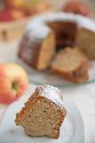 Home made Apple Sponge Cake Stock Photo