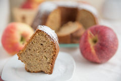 Home made Apple Sponge Cake Stock Images
