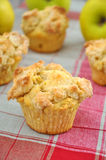 Apple Streusel Muffin Stock Image