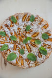 Home made apricot almond cake Stock Image