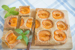 Home made apricot cake Royalty Free Stock Photo