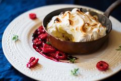 Home made Baked aAlaska Royalty Free Stock Images