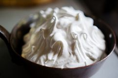 Home made Baked alaska Stock Photos