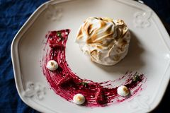 Home made Baked Alaska Stock Photography