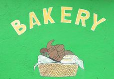 Home Made Bakery Sign Stock Image