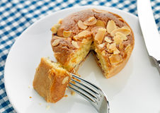 Home made Bakewell tart Royalty Free Stock Photo