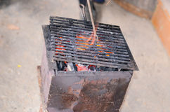 Home made barbecue Stock Images