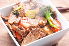 Home made beef stir fry Royalty Free Stock Photography