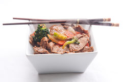 Home made beef stir fry Royalty Free Stock Images