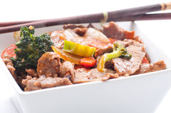 Home made beef stir fry Stock Image