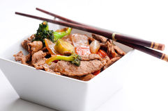 Home made beef stir fry Royalty Free Stock Image