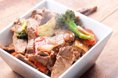 Home made beef stir fry. With fresh vegetables Stock Photography