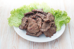Home made beef stir fry with vegetables Stock Photography
