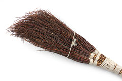 Home made besom, broom Royalty Free Stock Photos