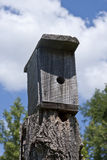 Home Made Bird House Royalty Free Stock Photography