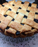 Home made black berry blue berry pie Royalty Free Stock Image