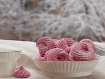 Home made black currant marshmallow royalty free stock images