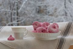 Home made black currant marshmallow royalty free stock photography