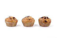 Home-made blueberry muffins,muffin cup cake closeup isolated on Stock Photography
