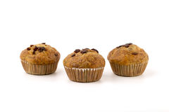 Home-made blueberry muffins, muffin cup cake closeup isolated on Royalty Free Stock Images