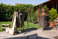 Home made brandy distillery Royalty Free Stock Photo