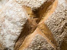 Home made bread. Traditional way of baking - home made bread Royalty Free Stock Photo