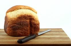 Home Made Bread. A fresh loaf of home made white bread Royalty Free Stock Photography