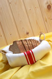Home made bread in a basket Stock Photography