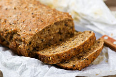 Home-made bread with bran Stock Image