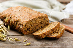 Home-made bread with bran Stock Photography
