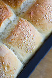 Home made bread buns Royalty Free Stock Images