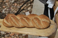 Home Made Bread. Country life of Sardinia stock image