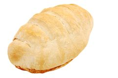 Home made bread loaf. Fresh and warm home made bread loaf, isolated Stock Images