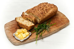Home Made bread loaf and slices royalty free stock images