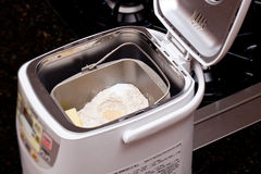 Home made bread making royalty free stock photo