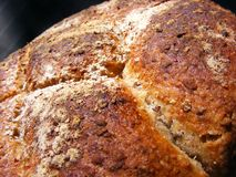 Home made bread with oats Royalty Free Stock Photography