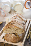 Home made bread from organic flour Royalty Free Stock Images