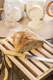 Home made bread from organic flour Royalty Free Stock Image