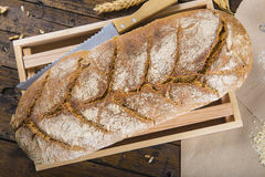 Home made bread from organic flour Royalty Free Stock Photos