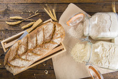 Home made bread from organic flour Royalty Free Stock Photo