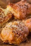 Home-made bread with sesame seed Stock Photos