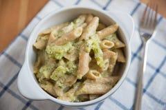 Home made broccoli pasta Stock Image