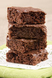 Home made brownie on a napkin Royalty Free Stock Photo